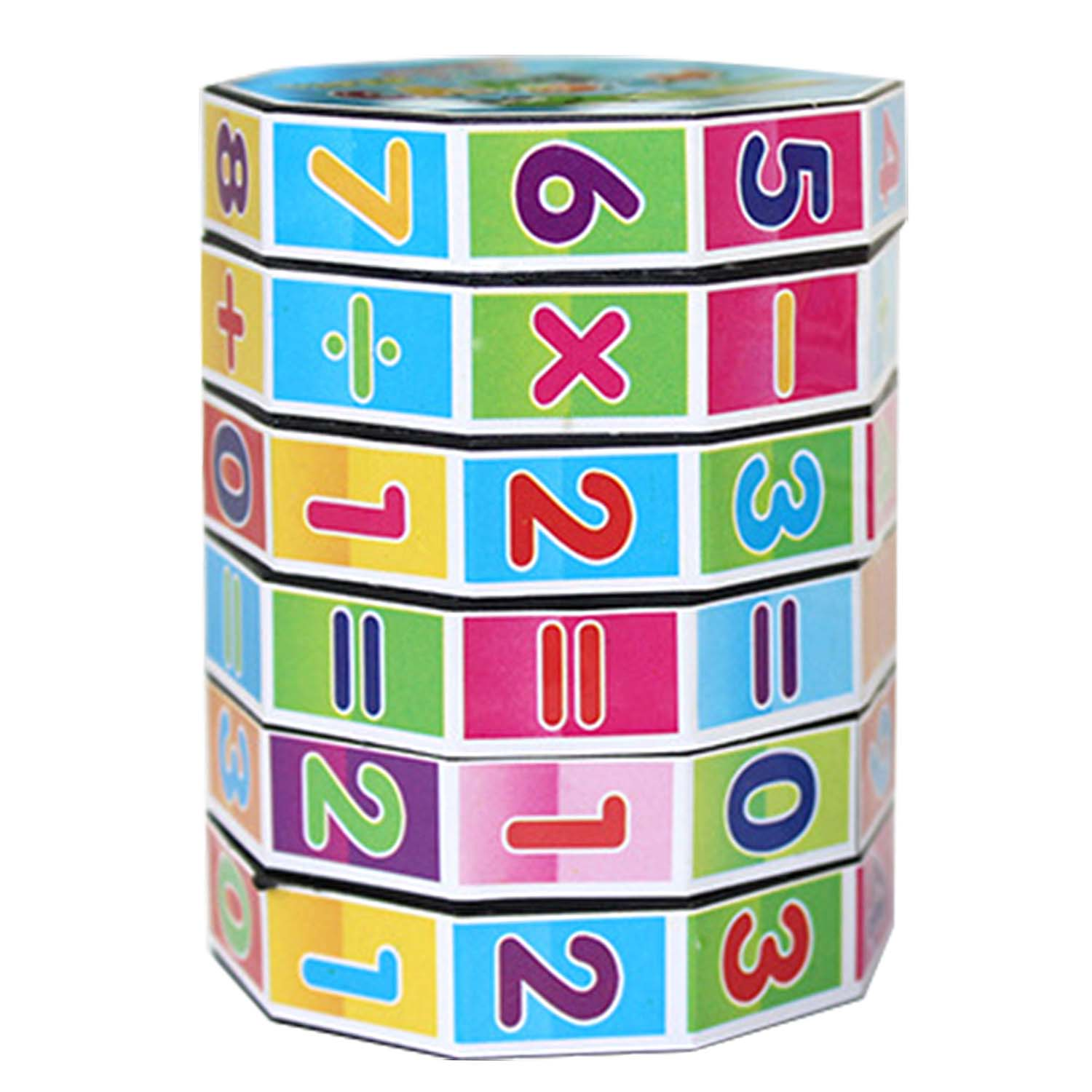 Colorful 6 Layers Intelligent Puzzle Cube Numbers and Signs Fun Education Learning Math Toy for Children Kids