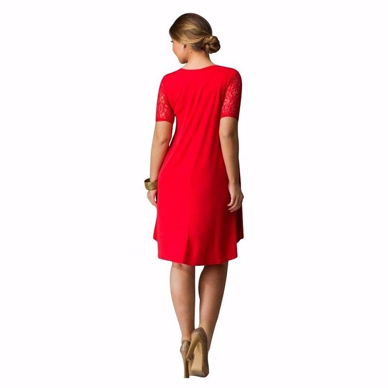 6XL Big Size Dress 2018 Summer Dresses Plus Size Women Lace Dress Short Sleeve Casual Dress Plus Size Women Clothing Vestidos 3