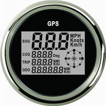 все цены на Car GPS Speedometer Truck Boat Digital LCD Speed Gauge  Knots Compass With GPS Antenna 85mm онлайн