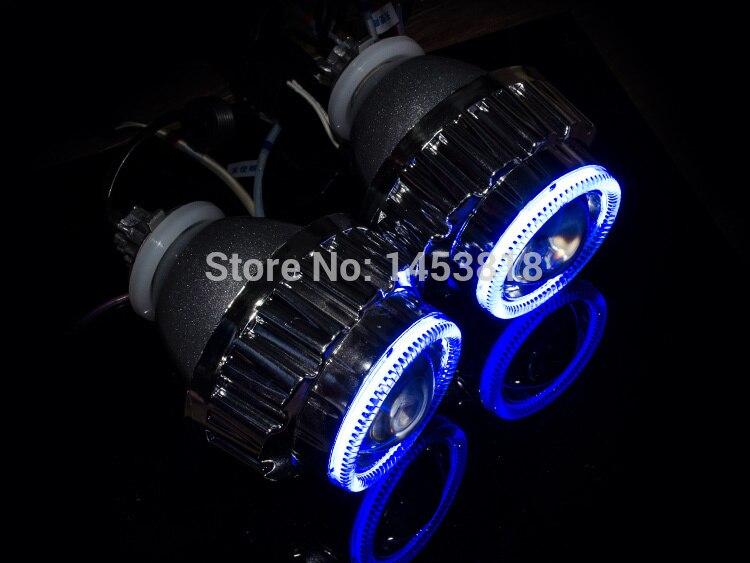2.8HQ bleu blanc jaune lentille Angel Eyes H1 H7 H4 H11 HB3 HB4 9004 9007 8000 K 6000 K 4300 K nouveau 2.8 pouces lentille bi-projecteur