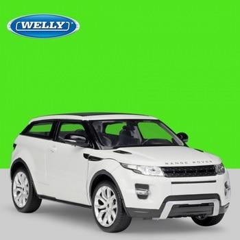 124 Welly Range Rover Evoque blanco/verde/azul/rojo/negro/gris Diecast modelo Coche