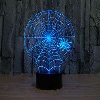 USB Led 3D Lamp Novelty Spider Table Lamp For Bedroom Living Room