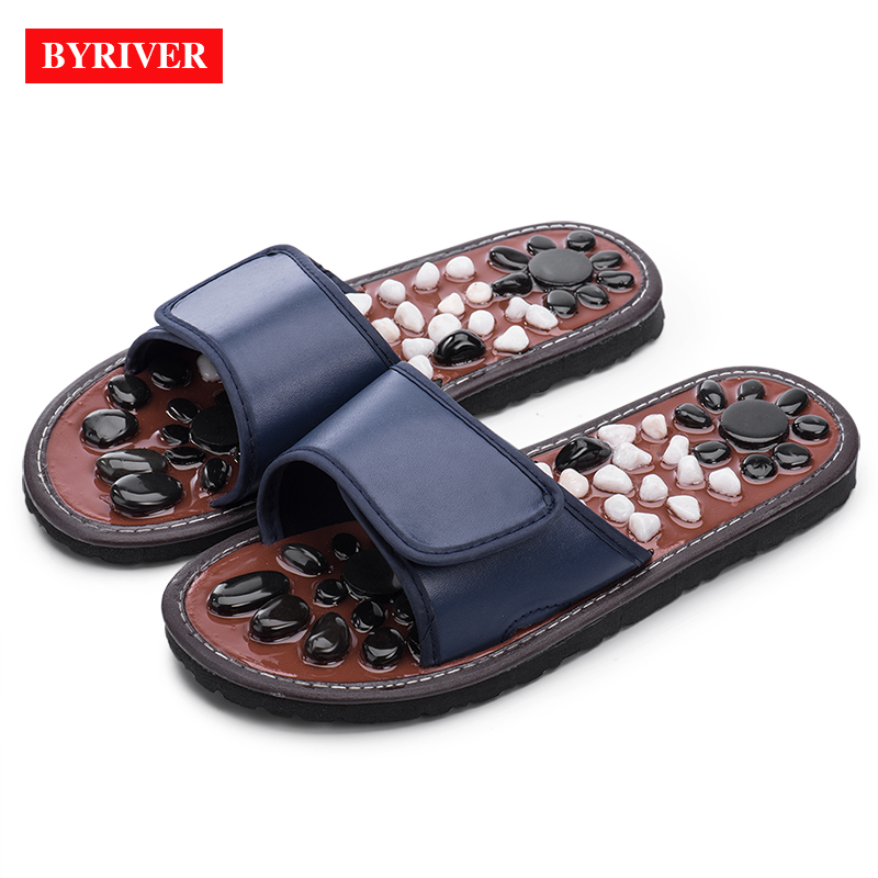 BYRIVER Stone Acupuncture Foot Massager Massage Slipper Sandals Shoes Relaxation Tool Gift Relief Pain Promote Blood Circulation far infrared heat foot massager vibrating massage blood circulation pain relief
