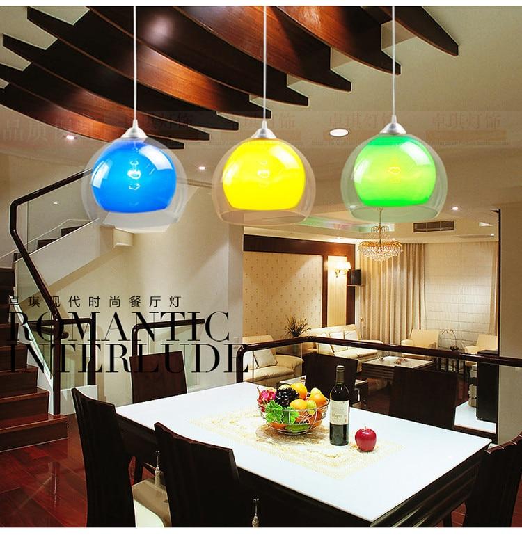 Colorful 1pc double acrylic 25cm restaurant pendant lamp color pendant lampColorful 1pc double acrylic 25cm restaurant pendant lamp color pendant lamp
