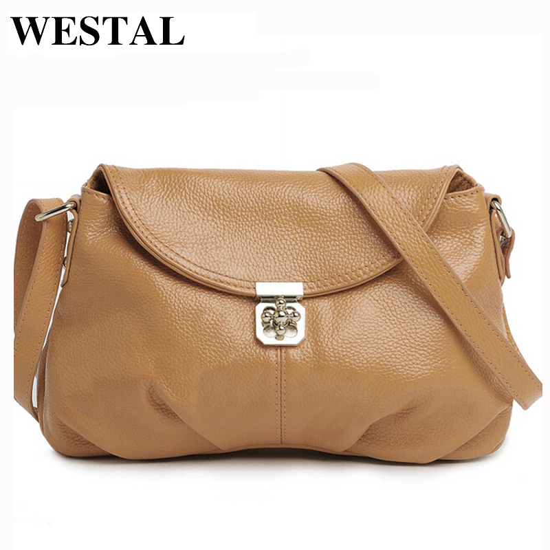 все цены на WESTAL Genuine Leather Women Bag Women Crossbody Bags Bolsas Feminine Shoulder Messenger Bags Brand Female Bag Leather Handbags