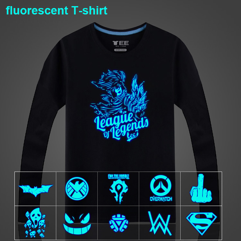 2018 New Summer Neon Fluorescent Yasuo Attack on Titan Printed Unisex Children Cotton Long Sleeve T Shirt Tops Tees Men T-shirt
