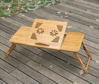New Arrival Laptop Table Portable Bamboo Laptop Stand Desk Folding Notebook Computer Desk Table With Mouse