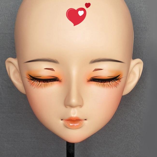 Costumes & Accessories mian-02 female Sweet Girl Resin Half Head Kigurumi Bjd Mask Cosplay Japanese Anime Role Lolita Mask Crossdress Doll Mask With Traditional Methods