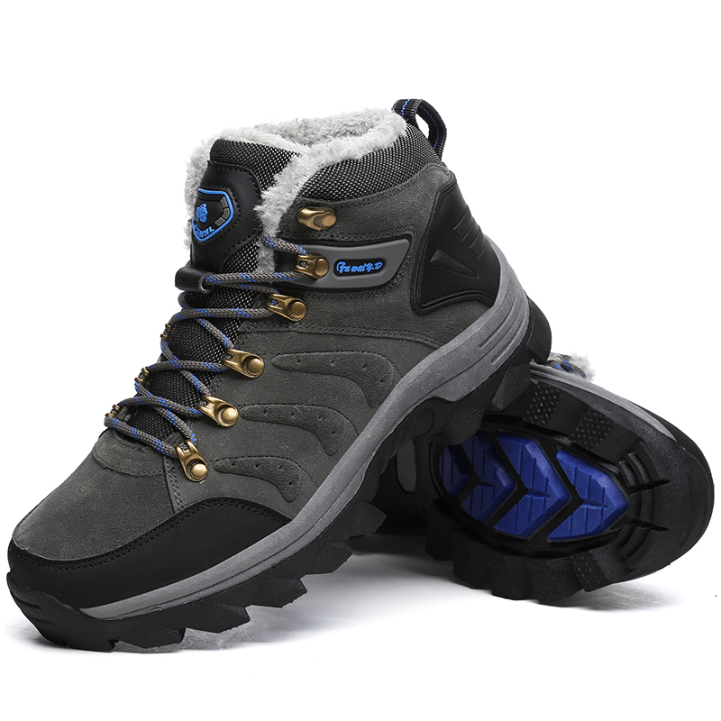 Big Size New Men Boots Men Winter Snow Boots Warm Fur&Plush Lace Up High Top Fashion Men Shoes Sneakers Boots 36-47 high quality men boots 2017 new arrivals waterproof thick plush warm men winter shoes lace up ankle boots size 39 46