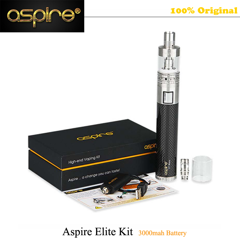 все цены на  2017 HOT Aspire Elite Kit 3000mah Battery E Cig Mechanical Mod Kit 5ml Atlantis Tank Atomizer Kanthal Coil Black Vape vs ijust  онлайн