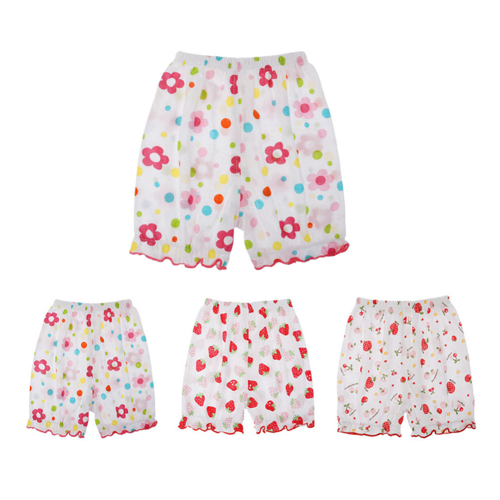 Summer Baby Girl Cotton Elastic Waist Floral Print Loose Casual Beach Shorts Pants Kids Girl Cute Toddler Shorts Baby Clothes