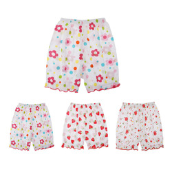 Летнее платье для маленьких девочек хлопок эластичный Цветочный Пояс с принтом свободные Повседневное короткие пляжные шорты милые детски...