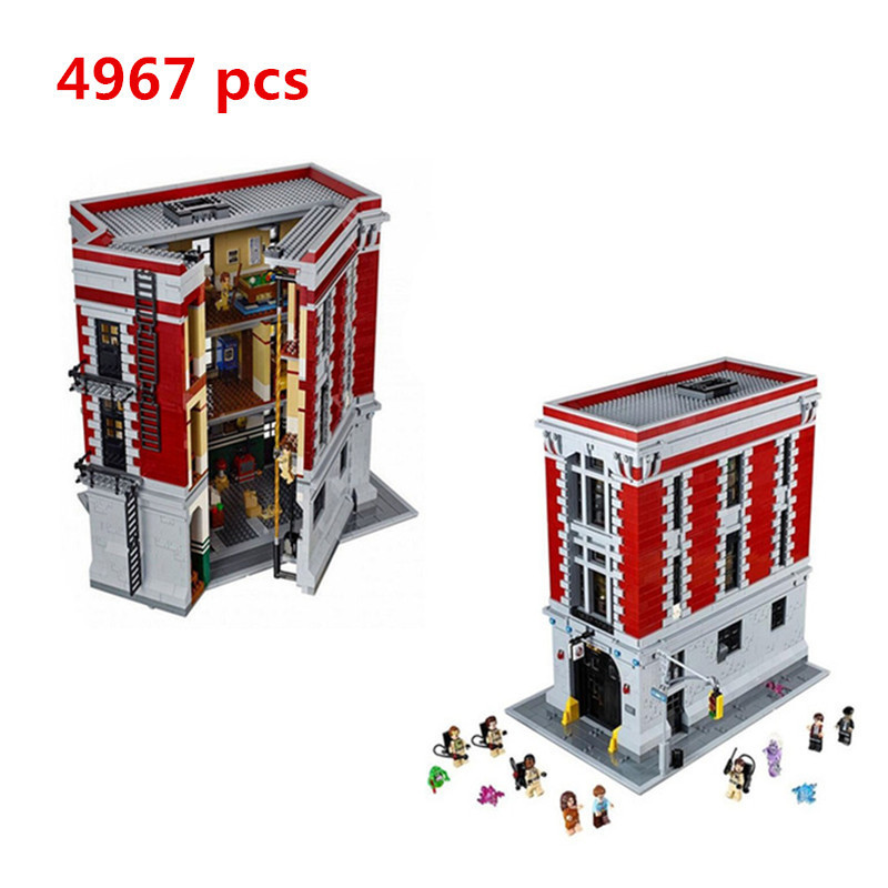2018 New LEPIN 16001 Actuals 4705Pcs Ghostbusters Firehouse Headquarters 75827 Model Building Kits Set Toys For Children lepin 16001 4705pcs city street series ghostbusters firehouse headquarters building block bricks kids toys for gift 75827