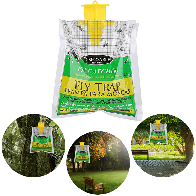 Fly Trap Catcher Bug Mosquito Killer Moth Insect Killer Pest Control Products Disposable Plastic Hanging Bait Bag DropshippingFly Trap Catcher Bug Mosquito Killer Moth Insect Killer Pest Control Products Disposable Plastic Hanging Bait Bag Dropshipping