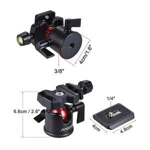 Image 3 - Adaptateur de support de trépied de table à tête sphérique Andoer avec plaque de dégagement rapide pour caméscope Canon Nikon Sony DSLR