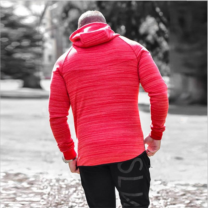 2017 New Brand Autumn Winter Bodybuilding Hoodies Men Animal Gyms Sweatshirts Long Sleeve Cotton Sportwear Fitness Pullover 1