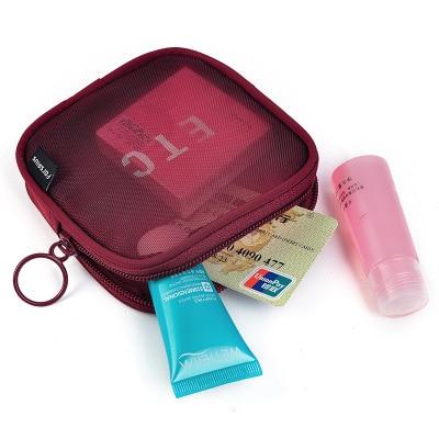 UOSC Travel Cosmetic Bag Women Zipper Make Up Transparent Makeup Case Organizer Storage Pouch Toiletry Beauty Wash Kit Bags