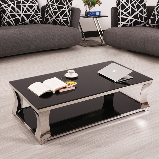 IKEA Modern Minimalist Living Room Furniture, Paint Glass Coffee Table  Rectangular Coffee Table Tea Table