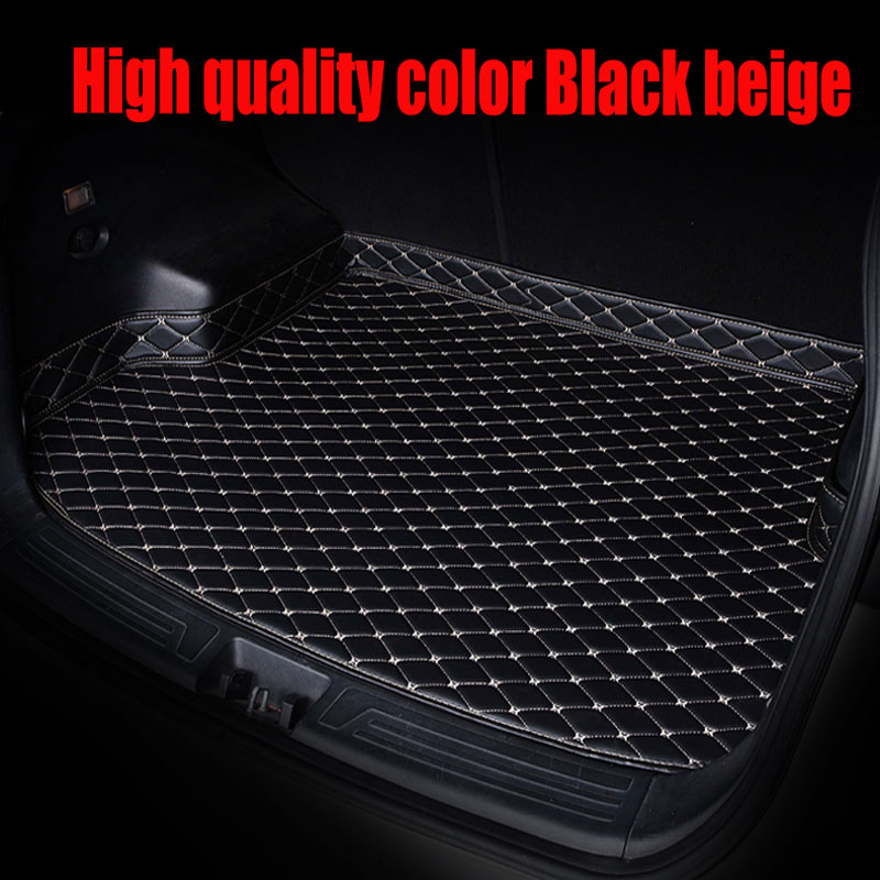 Custom make car Trunk mats for Audi A5 sportback S5 A3 A4 A6 A7 A8 A8L Q3 Q5 Q7 5D leather rugs carpet floor liners