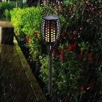 Solar Torch Light 96LEDs Flame Flickering Solar Lamp Waterproof Outdoor Garden Light Pathway Yard Lawn Lamp