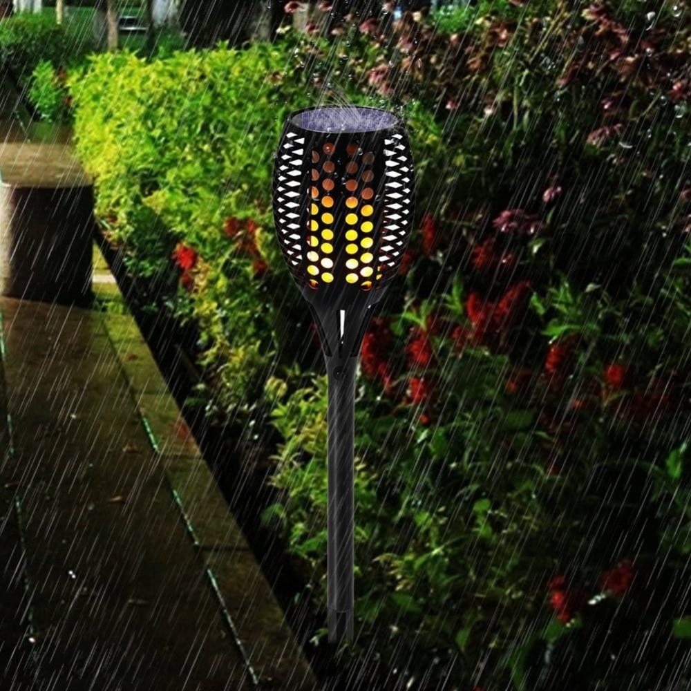 Solar Torch Light 96LEDs Flame Flickering Solar Lamp