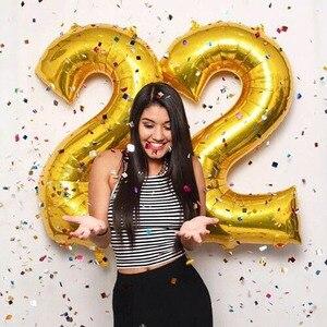 Image 4 - Ballons à feuille Happy 22 anniversaire 32 ou 40 pouces