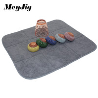 40x45cm 16x18inch Microfiber Placemat Dish Cup Drying Mat For Kitchen Bar Table Microfiber Cushion Pad Christmas