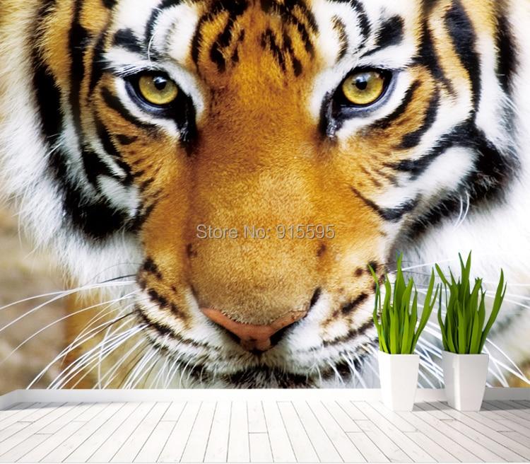Nach 3d Foto Tapete Tiger Tiere Restaurant Cafe Wohnzimmer