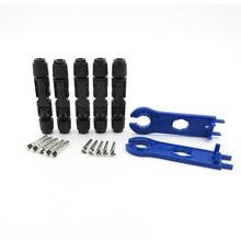 5 пар x MC 4 разъем мужской женский 30A 1000 В с 1 парой гаечный ключ солнечная панель филиал серии подключения солнечной системы