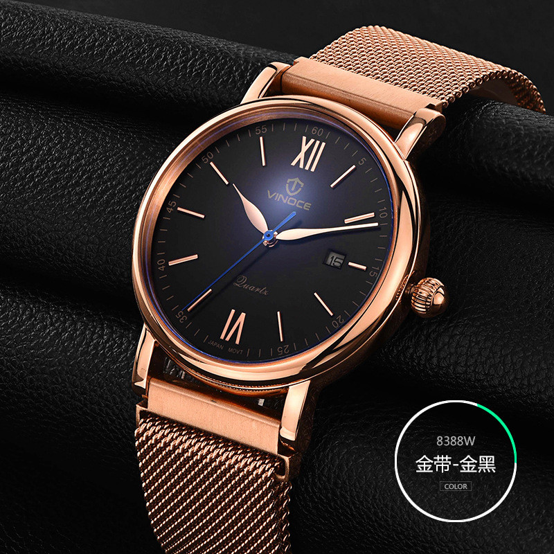 relogio masculino VINOCE Brand Luxury Stainless Steel Quartz Watch Men Business man clocks waterproof Hands Classic Male Clock weide popular brand new fashion digital led watch men waterproof sport watches man white dial stainless steel relogio masculino