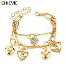 Chicvie Новое поступление Золотая Серебряная цепочка Многослойные