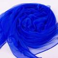 Stylish Classic Faux Silk Scarves Blue Ladies' Chiffon Scarf Chinese Style Shawl Mujeres Bufanda Chal Size 140x170cm WS016-B