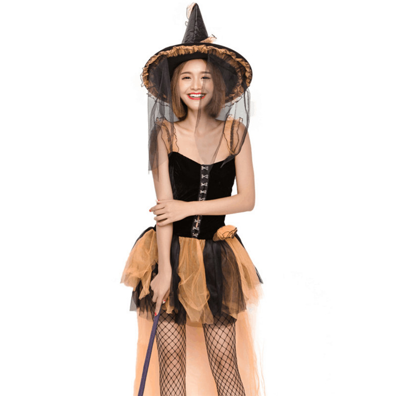 High Quality Witch Costume for halloween Womens Magic Moment clothing party dress 2018 new sexy Adult witch cosplay costumes