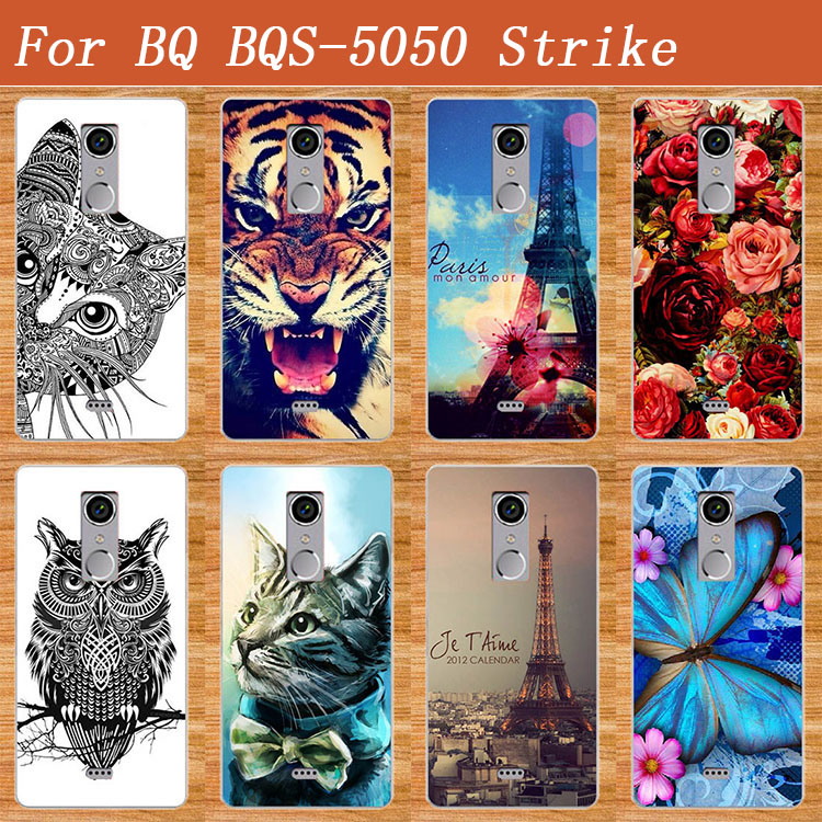 HOT Say DIY malování Barevný obal na pouzdro pro BQ BQS-5050 - Příslušenství a náhradní díly pro mobilní telefony