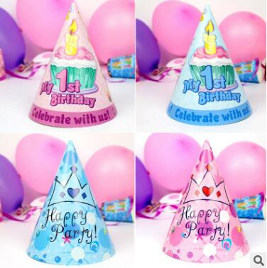 Festive & Party Supplies Party Hats 30pcs/lot Kawaii Cone Hats Disposable Paper Hat Cap Happy Birthday Party Decoration Cute Child Party Decoration Event Supplies