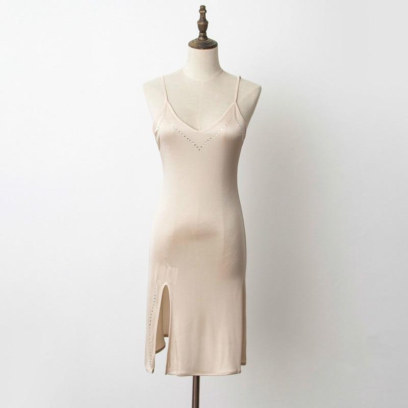 New womens chemise underskirt petticoat nightie satin silk white 8-24