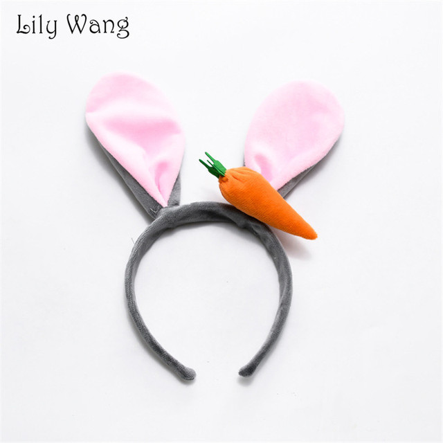 Bendable Bunny Ears Carrot Headband Cute Hair Band Women Girls Styling Hair  Accessories Stage Performance Funny 7da45959cfc1