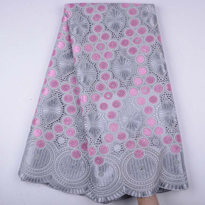 Gray Cotton Lace Fabric 2019 Swiss Voile Lace In Switzerland High Quality African Dry Cotton Voile