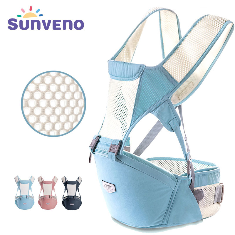 New SUNVENO Baby Carrier Sling Breathable Ergonomic Baby Hipseat Kangaroo Carrier Backpack for Newborn Infant Toddler