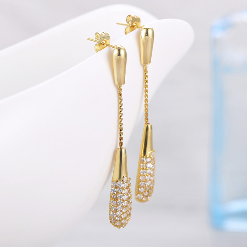 Fashion New Design 18 Gold Crystal Jewelry Earrings Charm Women Wedding Party Exquisite Handmade Jewelry Gift Accessories