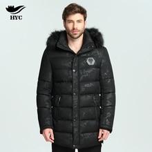 HAI YU CHENG Male Long Coat Puffer Jacket Winter Nylon Jacket Camouflage Parka Warm Fur Hood Parka Men Waterproof Anorak L-7866