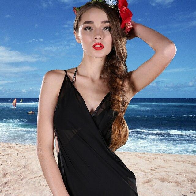 266db434a9d08 Summer Women Beach Chiffon Girl Dress Sexy Scarf Bikini Cover-Ups Charming  Swimwear V-Neck Wrap Pareo Sarong DD 00