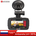 RUCCESS 2.7 Ambarella Car DVR 3 in 1 Radar Detector GPS Video Recorder Full HD 1080p Speed Camera for Car Recording Registrar
