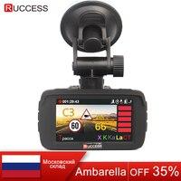 Ruccess LD100 Автомобильный видеорегистратор радар детектор gps 3 в 1 автомобиль детектор Камера 1296 P SpeedCam Русский Голос анти Радар детекторы dashcam