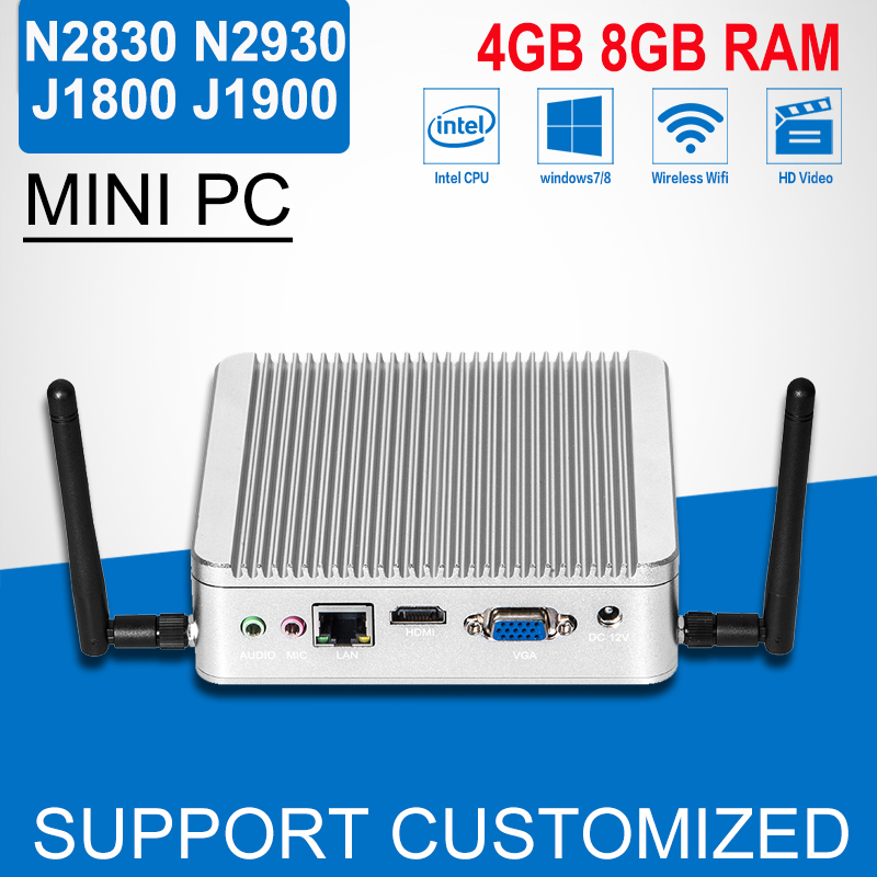 Mini pc Celeron N2840 N2830 J1800 8G RAM 32G SSD Windows10 Mini PC HDMI Laptop Computer fanless mini computer Tablet pc ddr4 ram 7th gen kaby lake i7 7500u mini pc windows 10 fanless computer 4k hdmi dp htpc 300m wifi dhl free