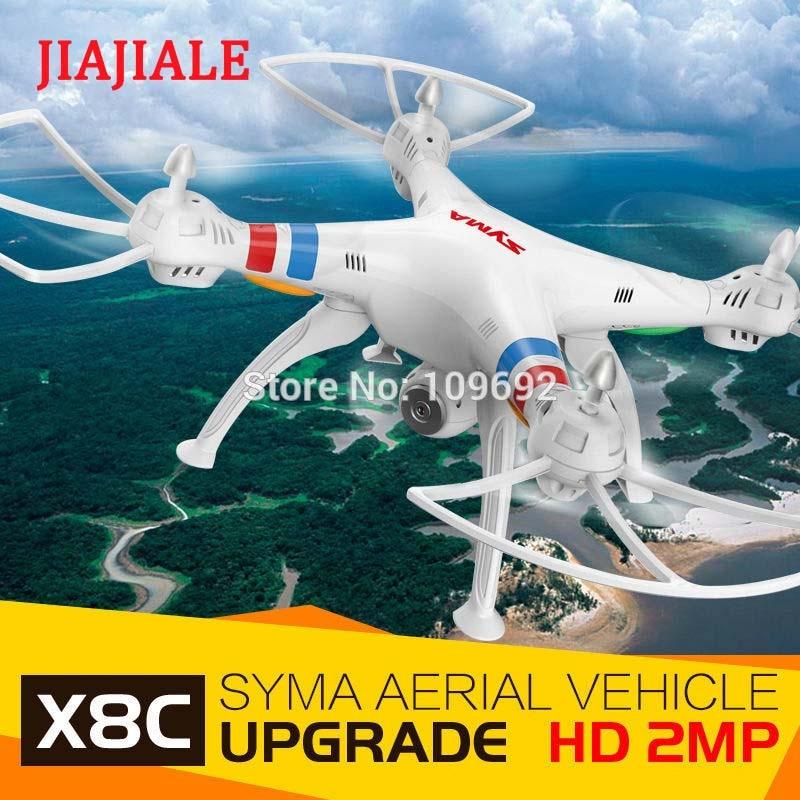Livraison gratuite 100% Original Syma X8C Venture RC Drone 6 axes 4CH 2.4G quadrirotor 2MP HD caméra hélicoptère aérien vs X101 X600 X6