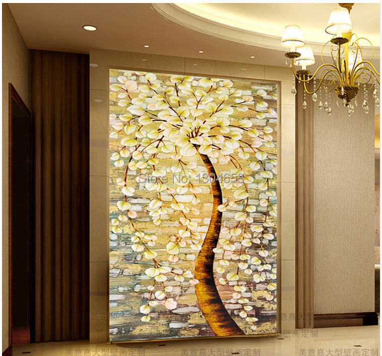 Free shipping custom 3 d mural The sitting room sofa porch wallpaper European oil painting tree corridor background wall paper dirt road design 3 d large sitting room the bedroom room corridor screen maple mural wallpaper background picture papeles pintad