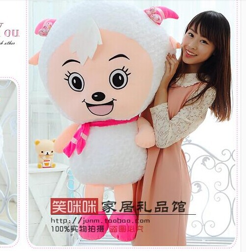 100cm lovely sheep plush toy Movie anime cartoon beauty goat doll throw pillow, birthday gift Christmas gift w5396 lovely giant panda about 70cm plush toy t shirt dress panda doll soft throw pillow christmas birthday gift x023