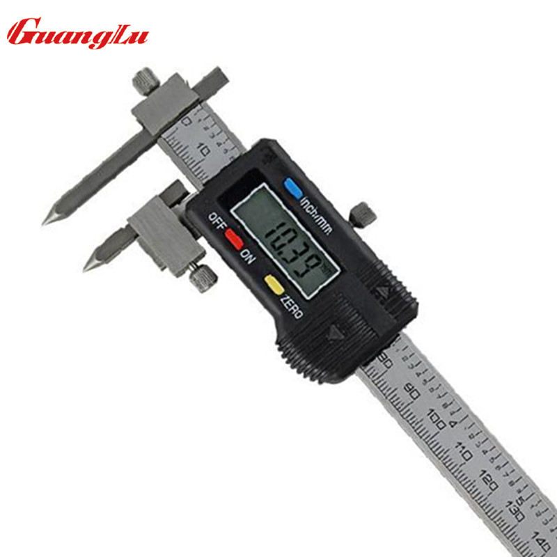 GUANGLU Centerline Digital Caliper With Conical Tips 5 150mm 0 01mm Stainless Steel Gage Micrometer Measuring