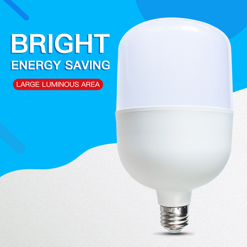 LED Bulb Lamps 5W 10W 15W 20W 30W 40W 50W 60W E27 LED Light Bulb AC 220V 240V Smart IC High Brightness Lampada LED Bombilla